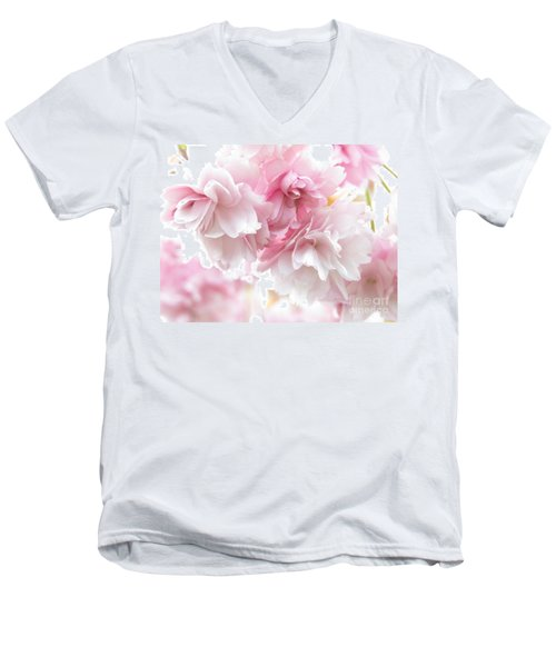 Pink April Men's V-Neck T-Shirt