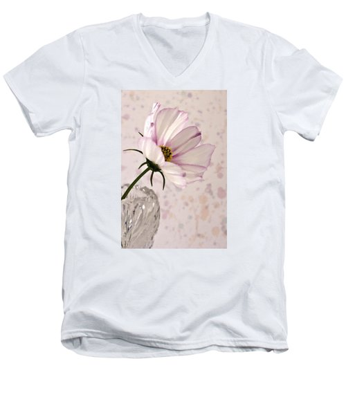 Pink Cosmo - Digital Oil Art Work Men's V-Neck T-Shirt by Sandra Foster