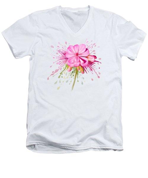Pink Eruption Men's V-Neck T-Shirt