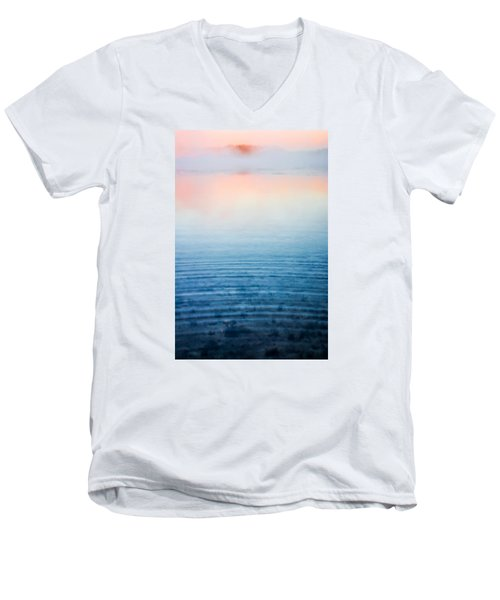 Pink Fog At Sunrise Men's V-Neck T-Shirt by Shelby  Young