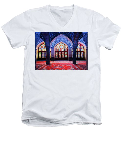 Pink Mosque, Iran Men's V-Neck T-Shirt