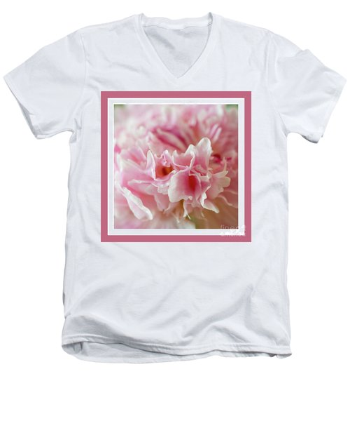Men's V-Neck T-Shirt featuring the photograph Pink Perfection by Wendy Wilton