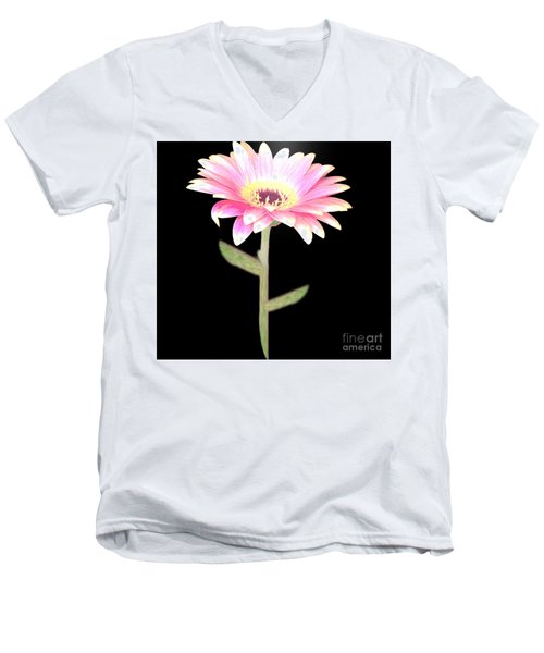 Pink Pink Delight Men's V-Neck T-Shirt by Belinda Threeths
