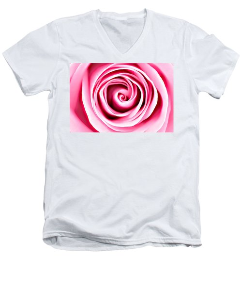 Pink Vortex Men's V-Neck T-Shirt