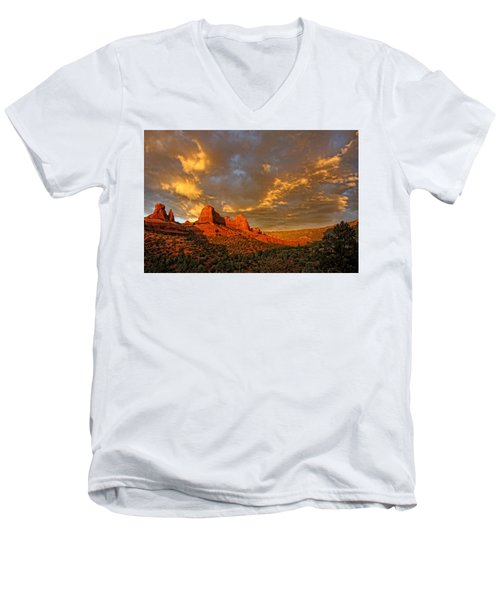 Pinnacle Of Light Men's V-Neck T-Shirt