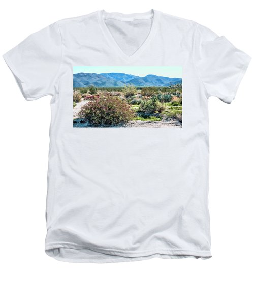 Pinyon Mtns Desert View Men's V-Neck T-Shirt