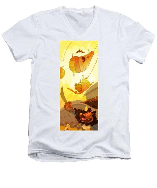 Pirate Attack Men's V-Neck T-Shirt