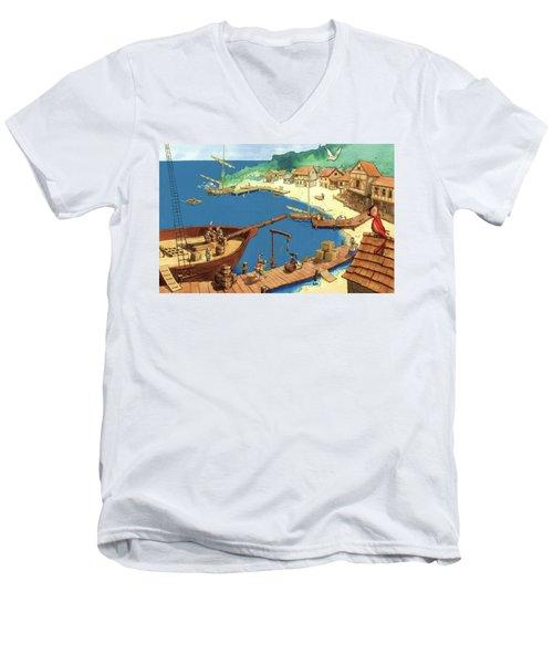 Pirate Port Men's V-Neck T-Shirt
