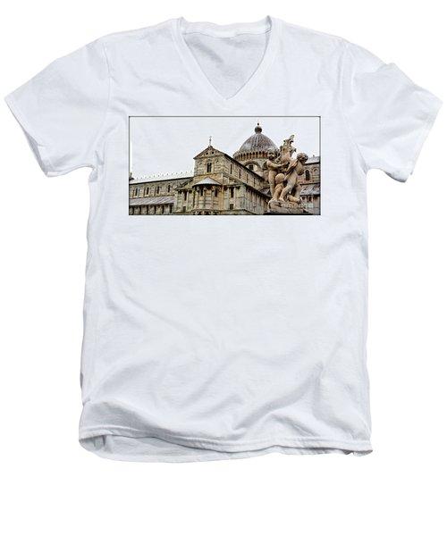 Pisa Cherubs Men's V-Neck T-Shirt