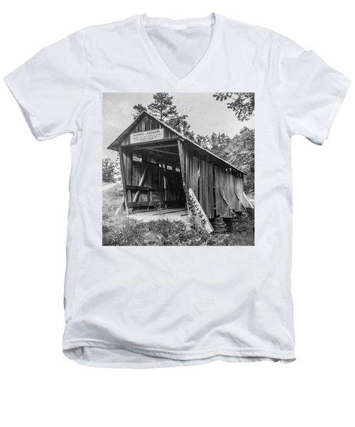 Pisgah Covered Bridge No. 1 Men's V-Neck T-Shirt
