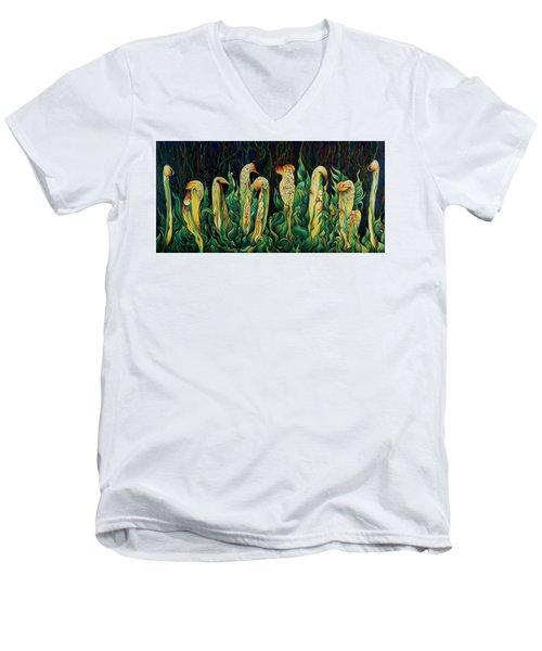 Pitcher Plant Promenade  Men's V-Neck T-Shirt