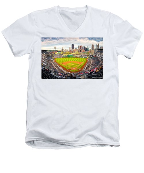 Pittsburgh Pirates  Men's V-Neck T-Shirt by Emmanuel Panagiotakis