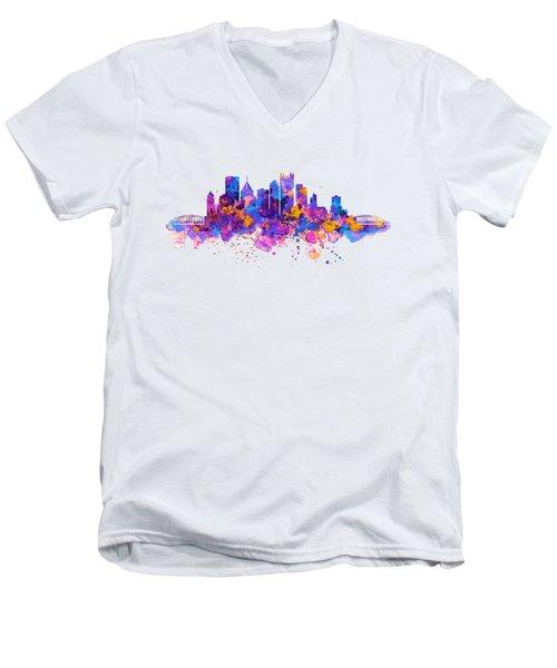 Pittsburgh Skyline Men's V-Neck T-Shirt