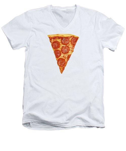 Pizza Slice Men's V-Neck T-Shirt by Diane Diederich