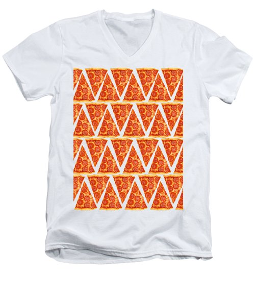 Pizza Slices Men's V-Neck T-Shirt by Diane Diederich