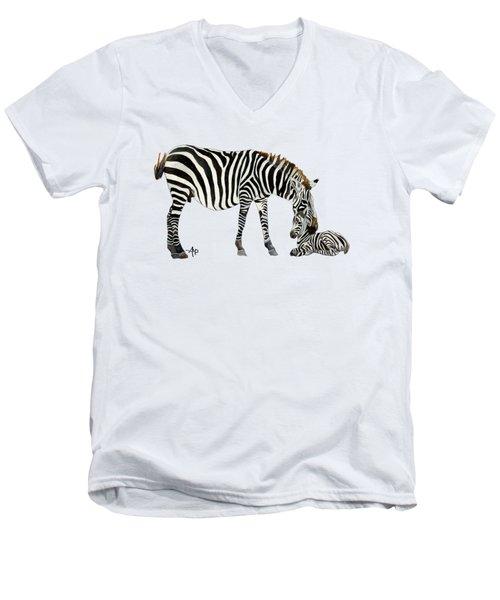 Plains Zebras Men's V-Neck T-Shirt