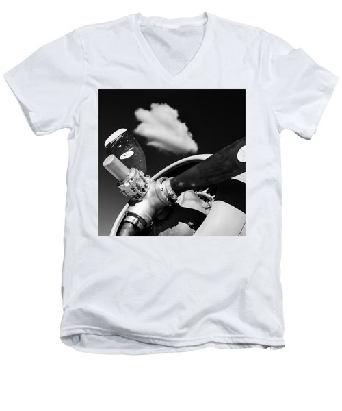 Men's V-Neck T-Shirt featuring the photograph Plane Portrait 2 by Ryan Weddle