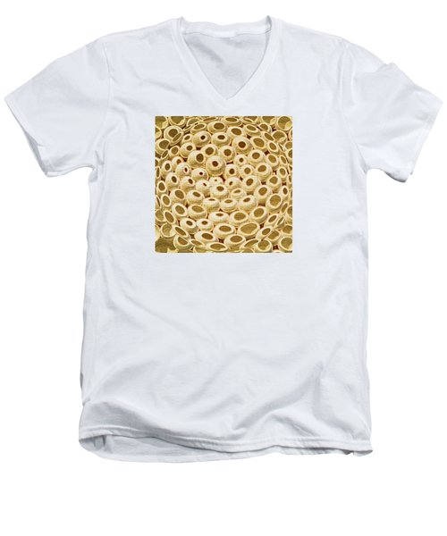 Planet Of The Golden Cheerios Men's V-Neck T-Shirt