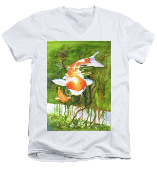 Play Koi With Me Men's V-Neck T-Shirt by Bonnie Rinier