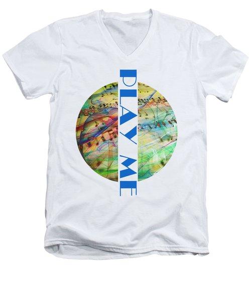 Play Me Men's V-Neck T-Shirt