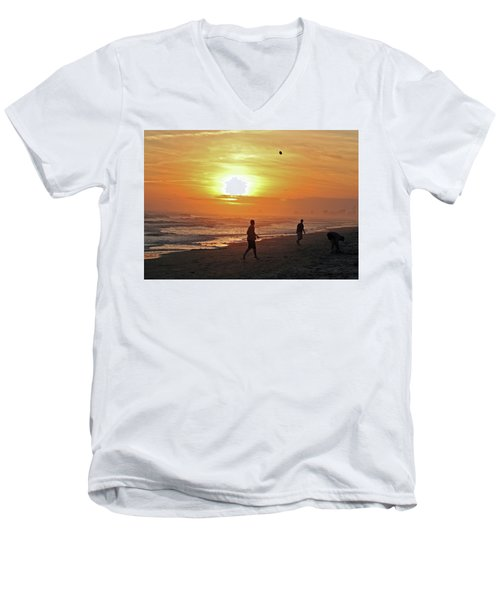 Play On The Beach Men's V-Neck T-Shirt