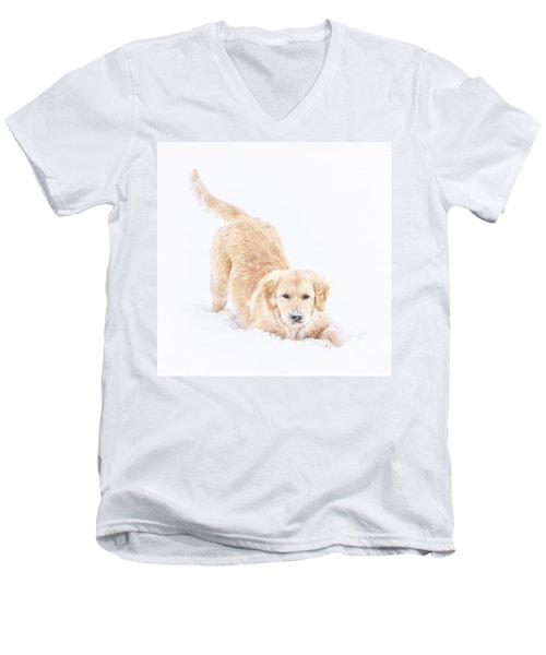 Playful Puppy Men's V-Neck T-Shirt