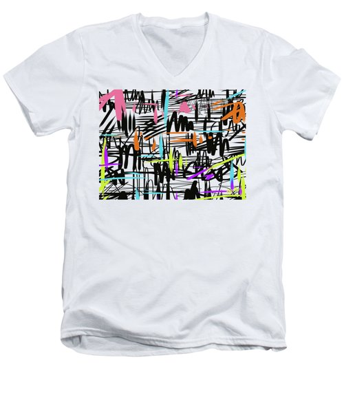 Playful Scribbles Men's V-Neck T-Shirt