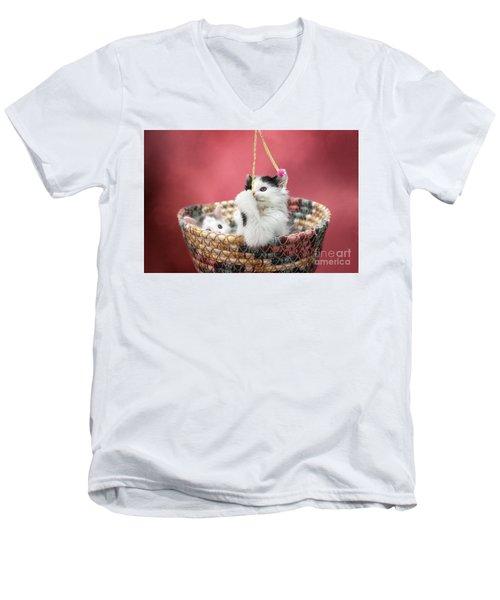 Playful Men's V-Neck T-Shirt