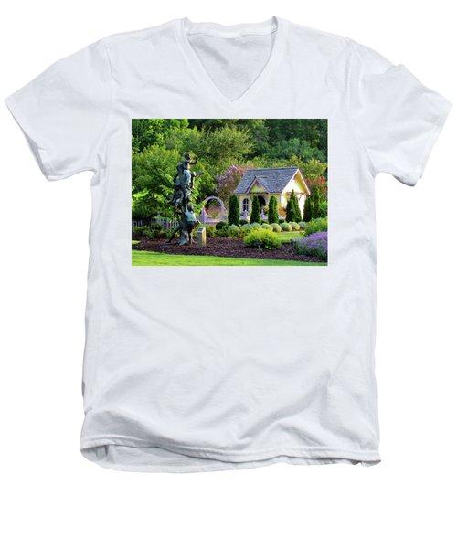 Playhouse In The Garden Men's V-Neck T-Shirt