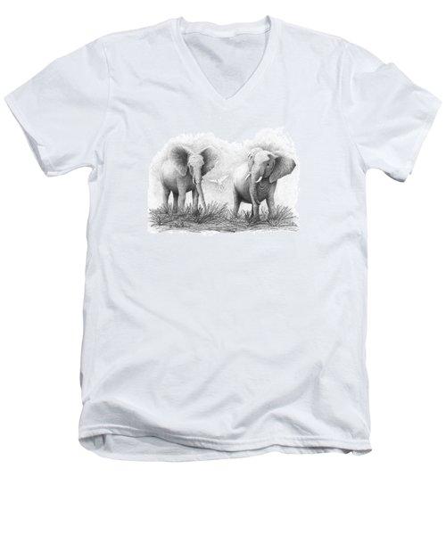 Playtime Men's V-Neck T-Shirt by Phyllis Howard