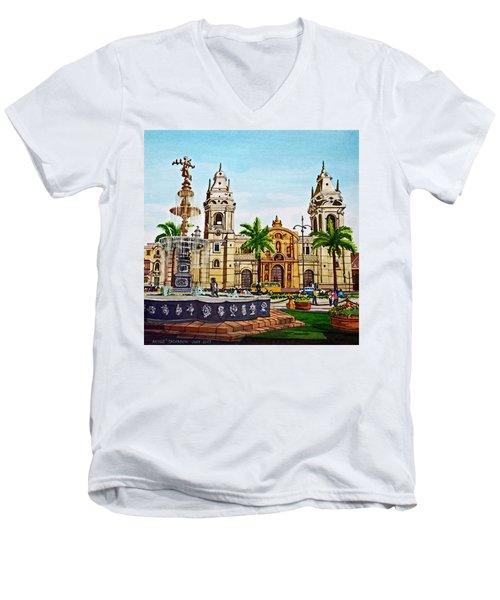 Plaza Armas, Cusco, Peru Men's V-Neck T-Shirt
