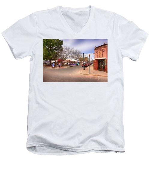Plaza De Mesilla Men's V-Neck T-Shirt