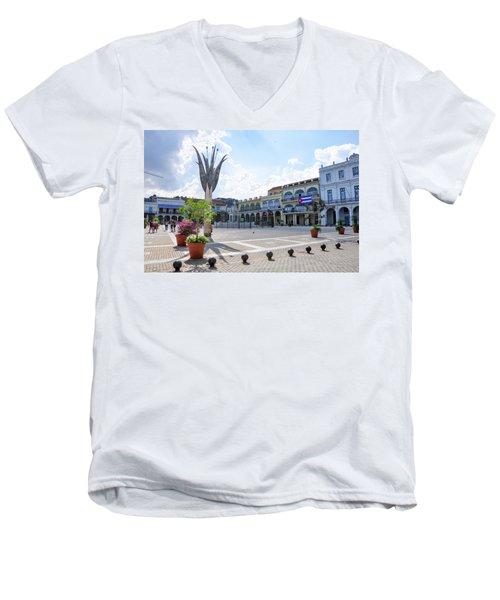 Plaza Vieja Men's V-Neck T-Shirt