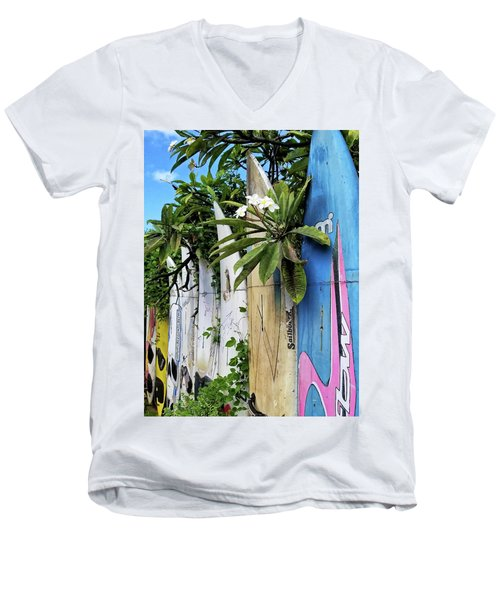 Plumeria Surf Boards Men's V-Neck T-Shirt
