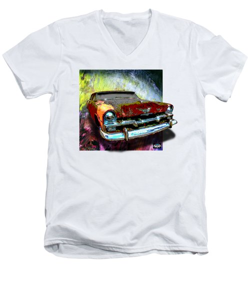 Plymouth From The Past Men's V-Neck T-Shirt