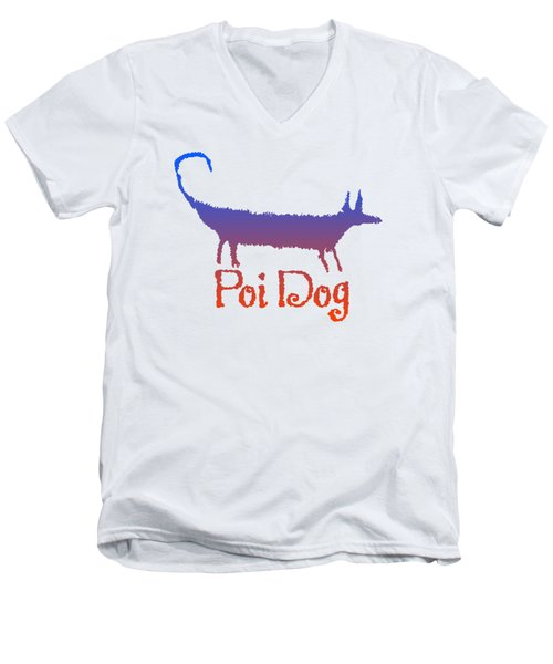 Poi Dog Men's V-Neck T-Shirt by Jim Pavelle