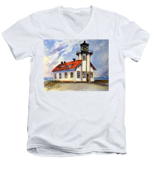 Point Cabrillo Light Station - Fort Bragg Men's V-Neck T-Shirt