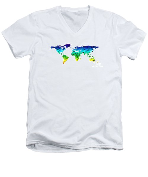 Point Map Men's V-Neck T-Shirt