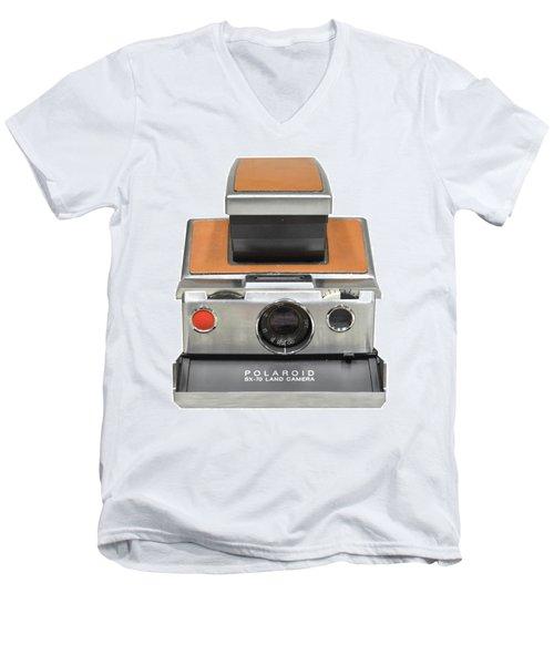 Polaroid Sx70 On White Men's V-Neck T-Shirt