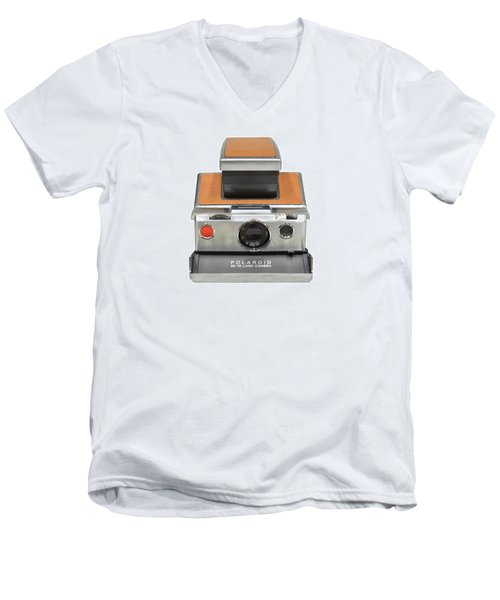 Polaroid Sx70 On White Men's V-Neck T-Shirt