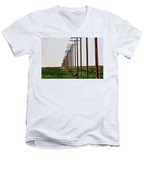 Poles In A Row Men's V-Neck T-Shirt