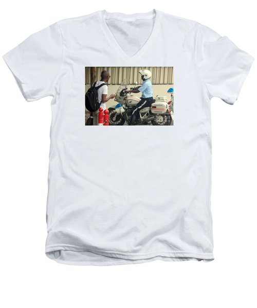 Police Escort Africa Men's V-Neck T-Shirt