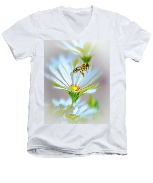 Pollinator Men's V-Neck T-Shirt by Mark Dunton