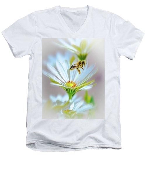 Pollinator Men's V-Neck T-Shirt by Mark Dunton