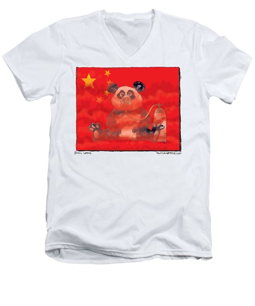Pollution In China Men's V-Neck T-Shirt