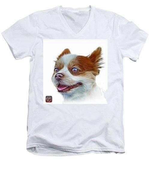 Pomeranian Dog Art 4584 - Wb Men's V-Neck T-Shirt