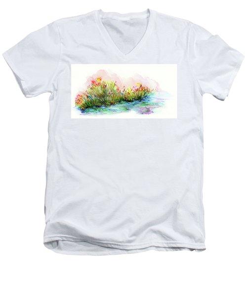 Sunrise Pond Men's V-Neck T-Shirt