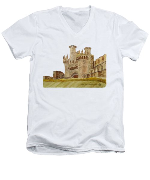 Ponferrada Templar Castle  Men's V-Neck T-Shirt