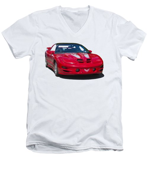 Pontiac Trans Am On Transparent Background Men's V-Neck T-Shirt
