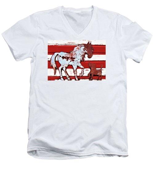Pony And Pup Men's V-Neck T-Shirt